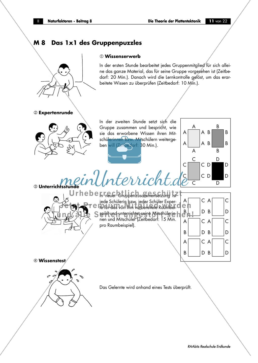 Plattentektonik: Raumbeispiele anhand von Gruppenarbeit Preview 1