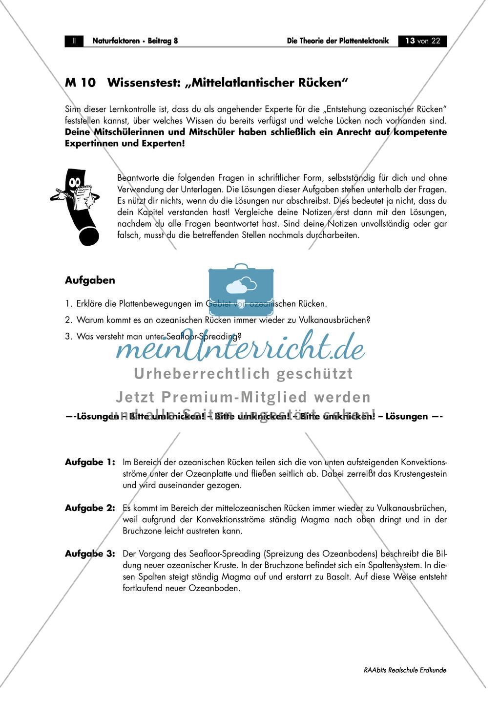 Plattentektonik: Raumbeispiele anhand von Gruppenarbeit Preview 3