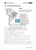 Südamerika: Großlandschaften + Gewässer - Rätsel Preview 1