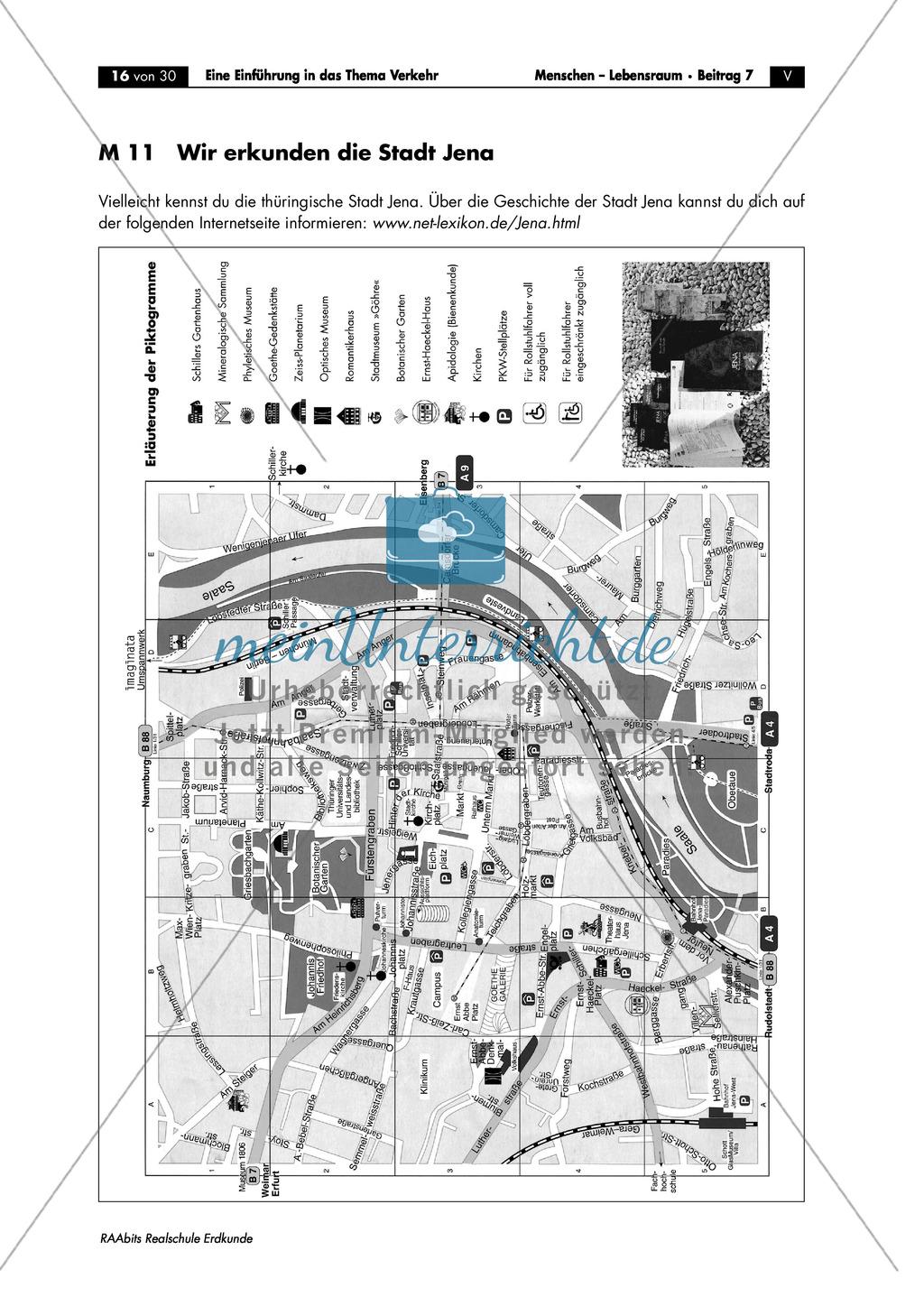 Einführung in das Thema Verkehr: Verkehrswege in Jena Preview 0