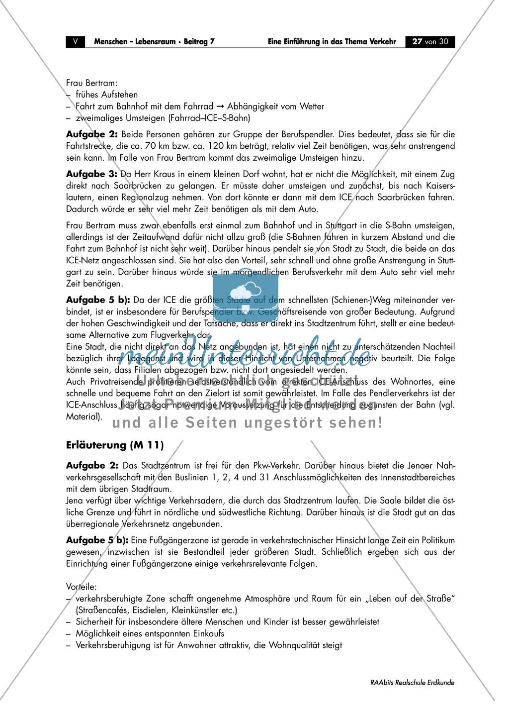 Einführung in das Thema Verkehr: Verkehrswege in Jena Preview 2