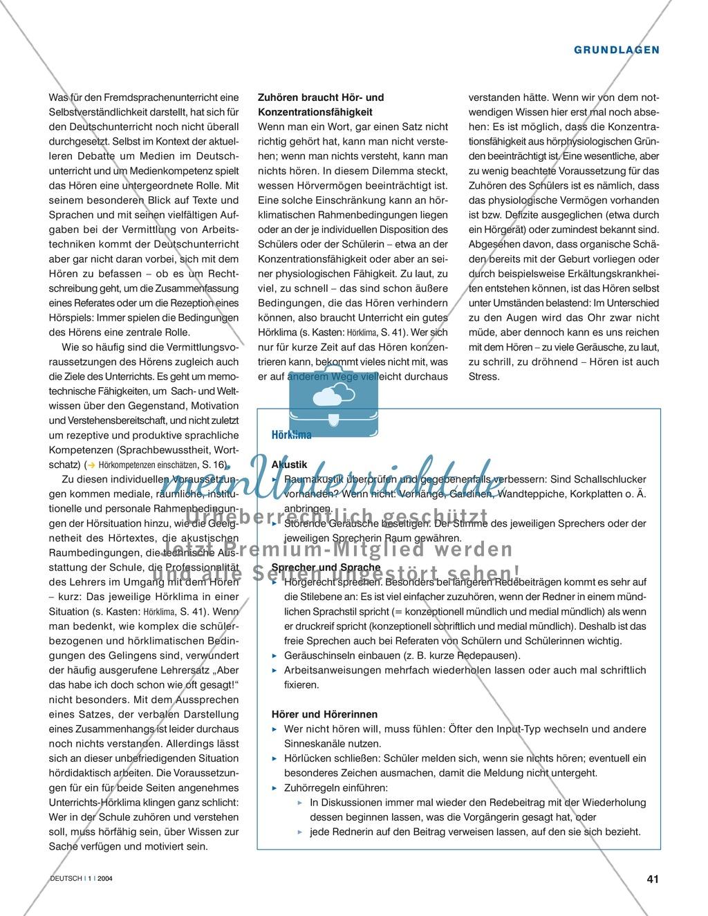 Hörkompetenzen vermitteln: Grundlagen der Hördidaktik Preview 1
