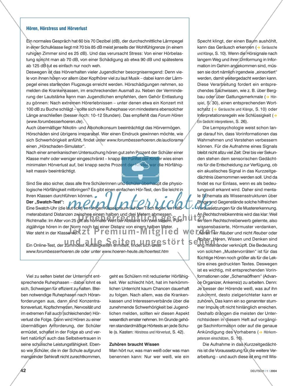 Hörkompetenzen vermitteln: Grundlagen der Hördidaktik Preview 2