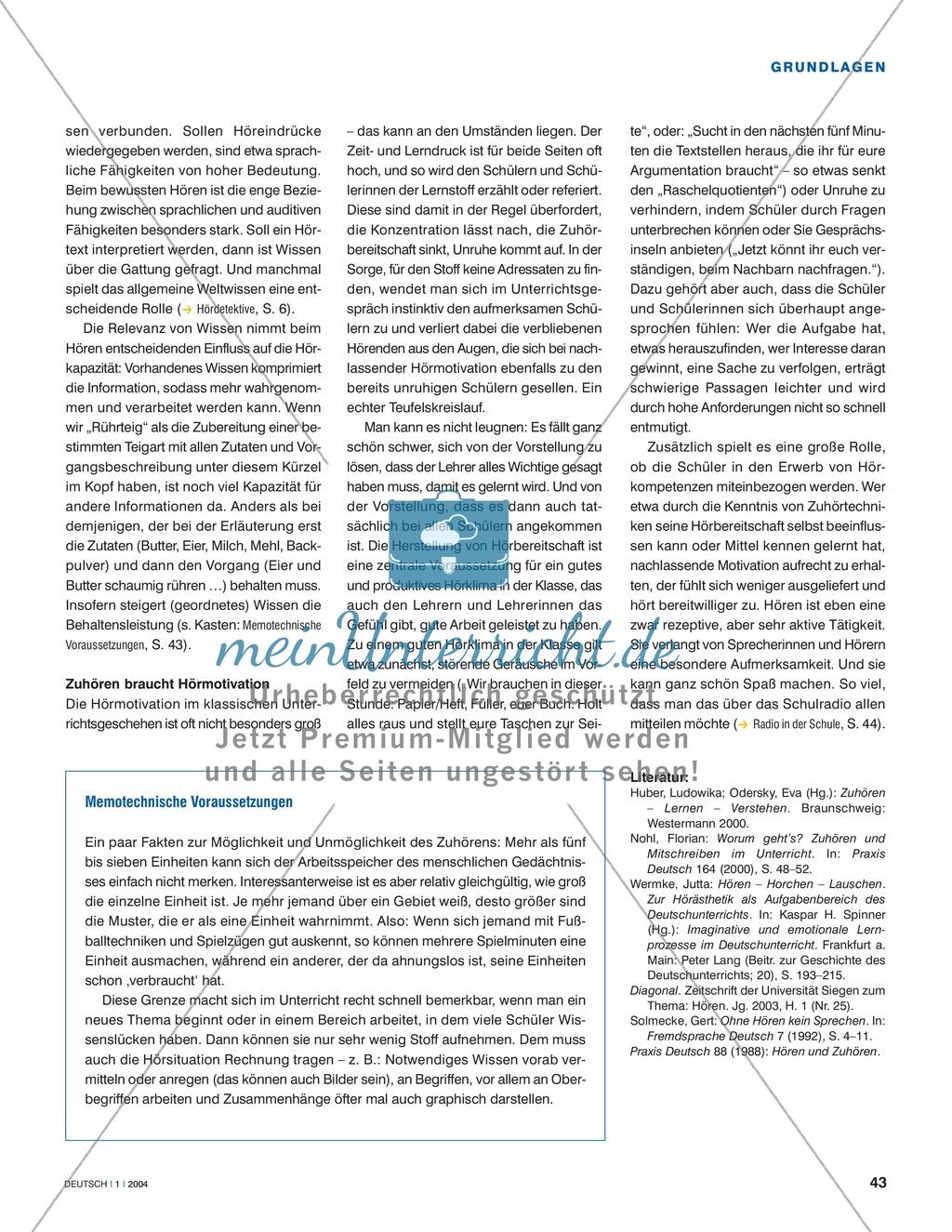 Hörkompetenzen vermitteln: Grundlagen der Hördidaktik Preview 3