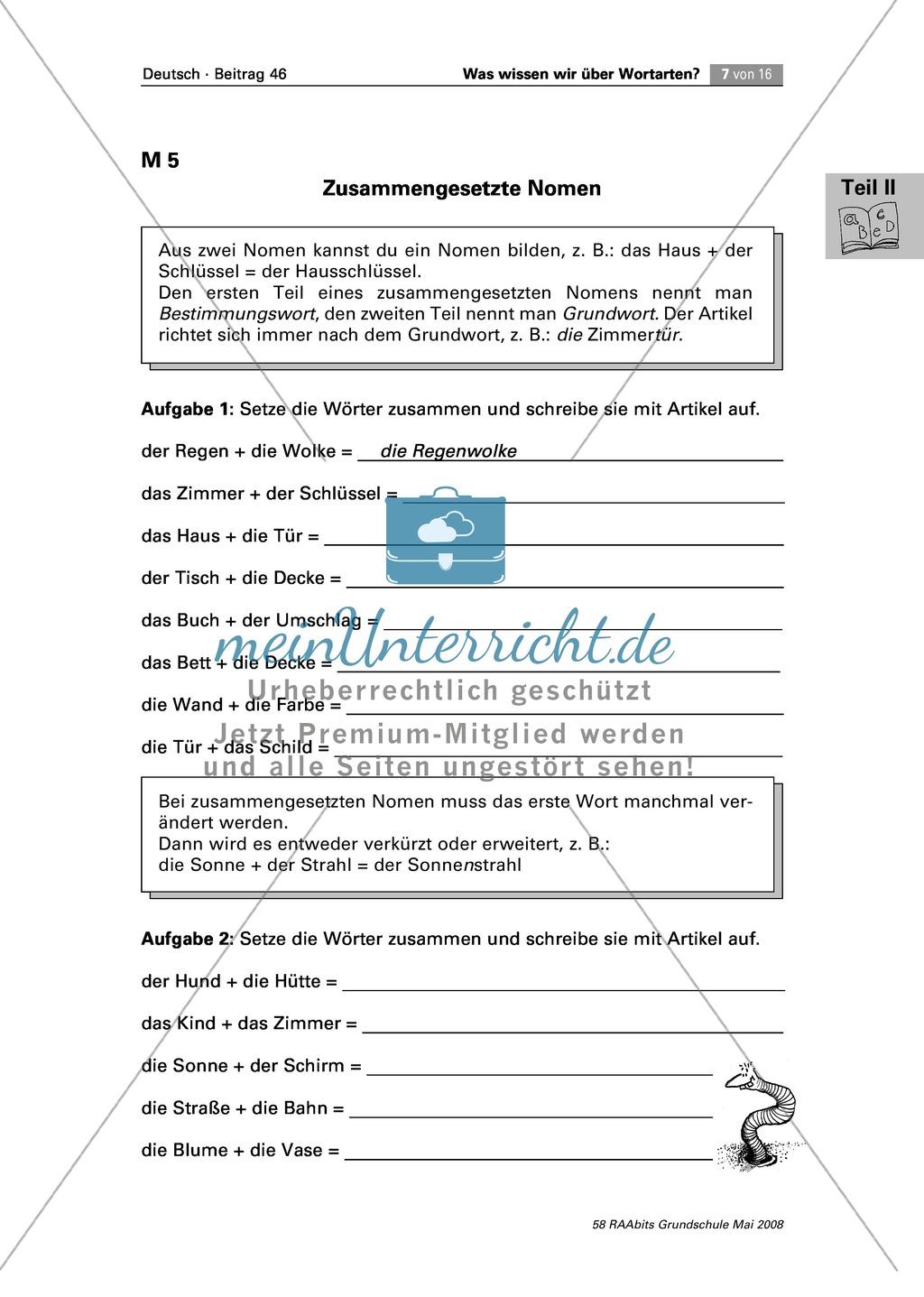 Die Wortarten: Nomen - Schreibweise + Rechtschreibregeln Preview 3