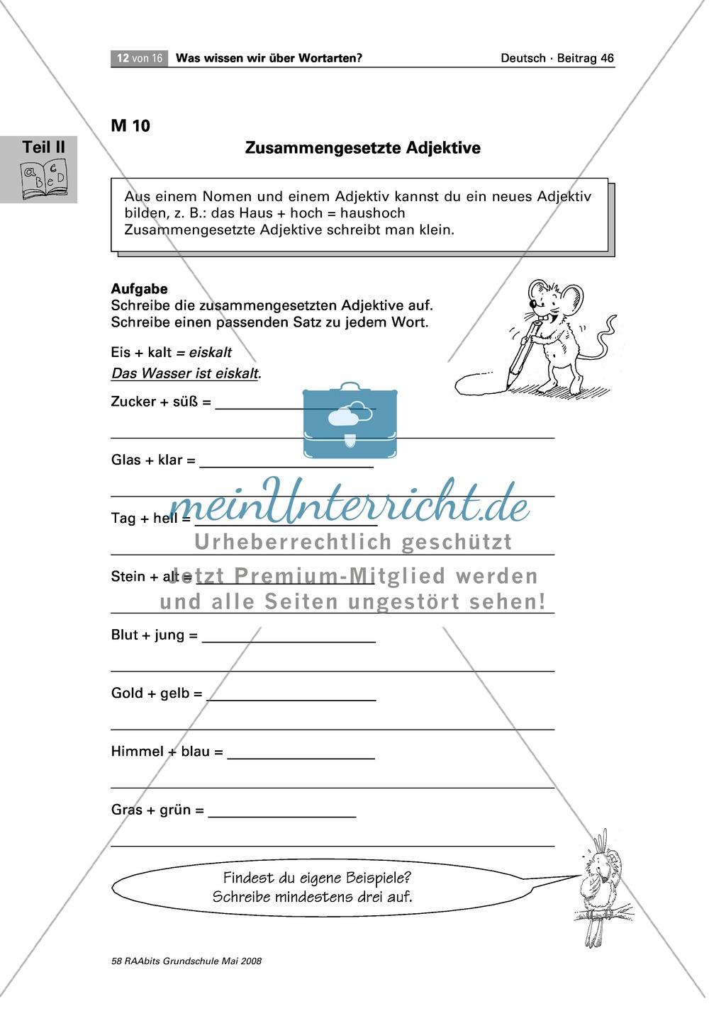 Die Wortarten: Adjektive - Schreibweise + Rechtschreibregeln Preview 4
