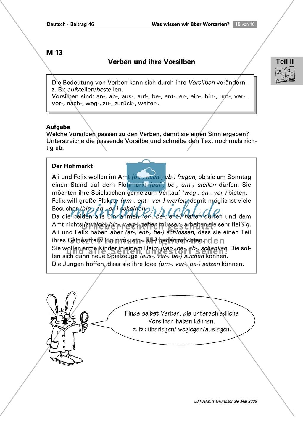 Die Wortarten: Verben - Schreibweise + Rechtschreibregeln Preview 2