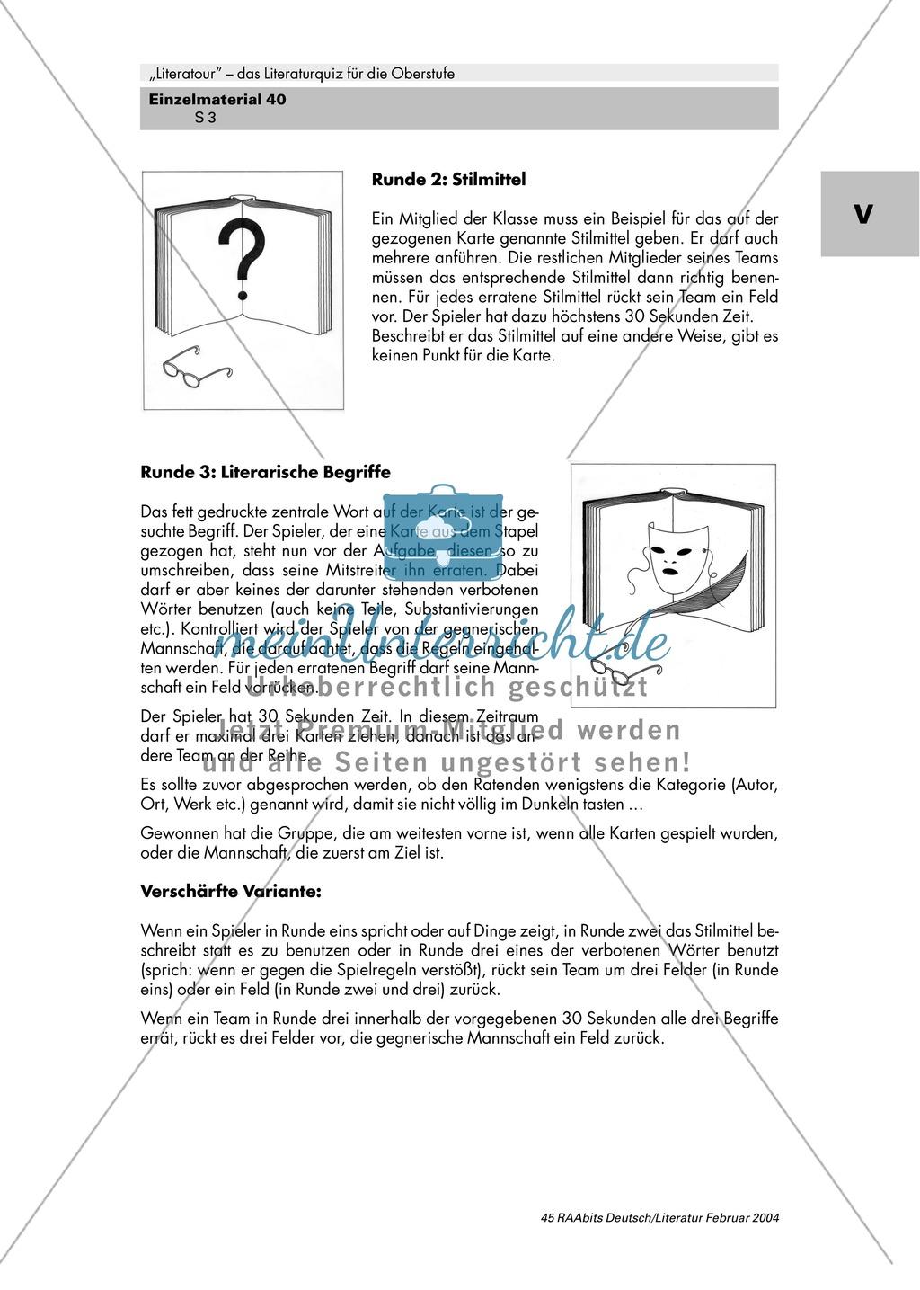 Literaturquiz für die Oberstufe Preview 3
