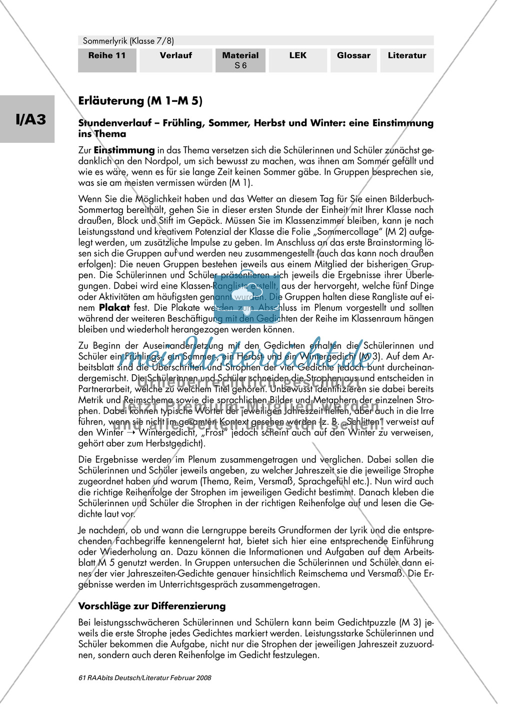 Sommerlyrik: Einführung in das Thema - Fachbegriffe zur Analyse von Gedichten Preview 5