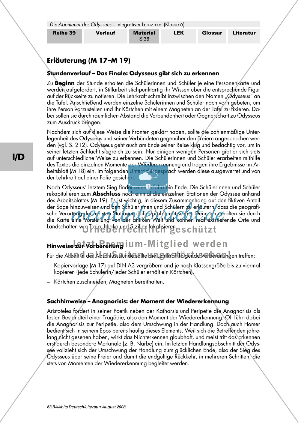 Sagen der Antike - am Beispiel von Auguste Lechners Jugendbuch