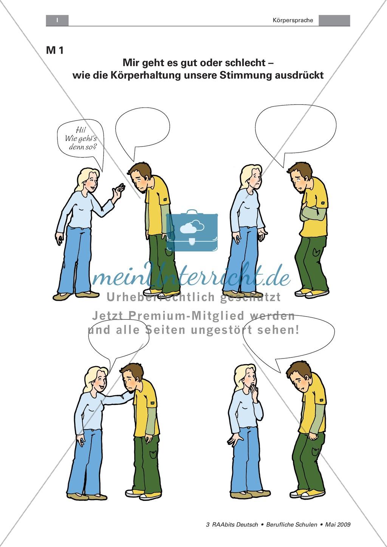 Beste Körpersprache Arbeitsblatt Ideen - Mathe Arbeitsblatt ...