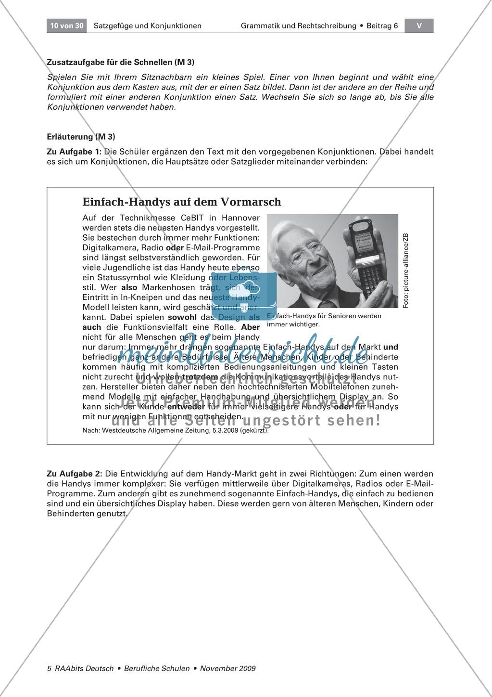 Satzgefüge und Konjunktionen: Verbindungen, Beziehungen und Bedeutung erkennen lernen Preview 2
