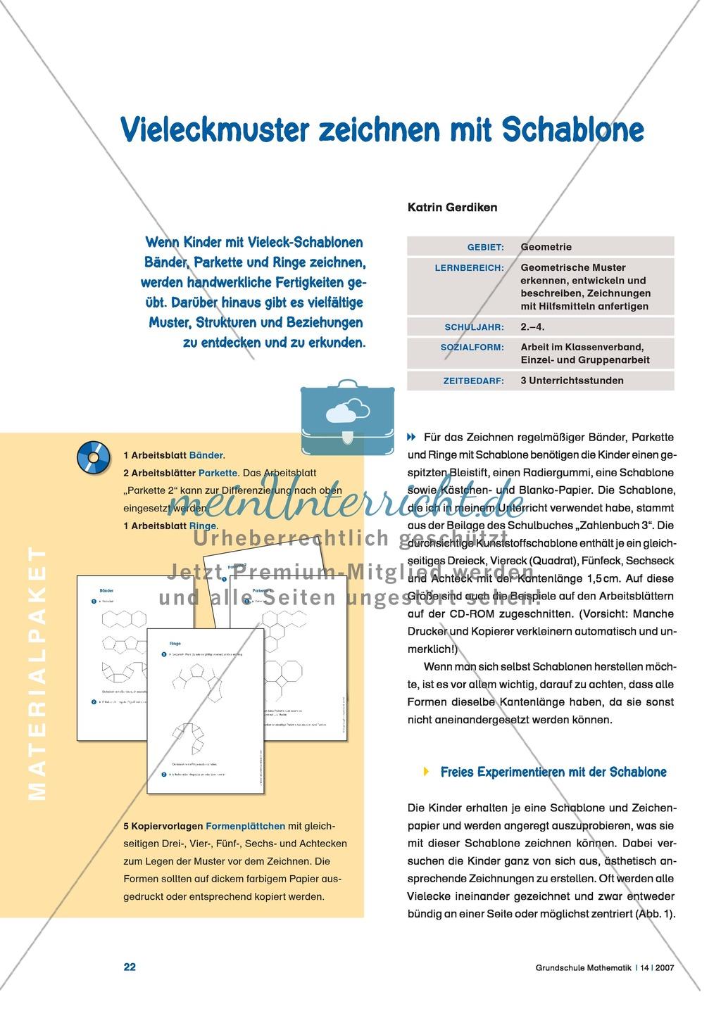 Geometrische Vieleckmuster erkennen, beschreiben und mit der ...