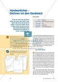 Mathematik, Geometrie, Raum & Form, geometrische Figuren, Geodreieck, zeichnen