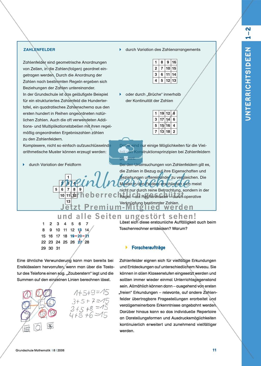 Von Lilo Verboom: Zahlenfelder: Vom Telefon zur Magie: Mathematische ...