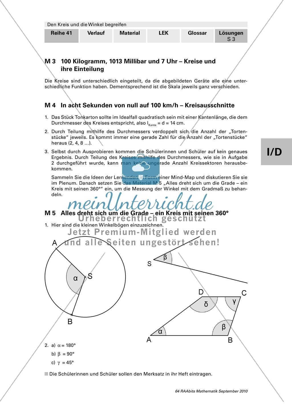 Einführung in das Gradmaß: Winkel und Winkelbögen Preview 1
