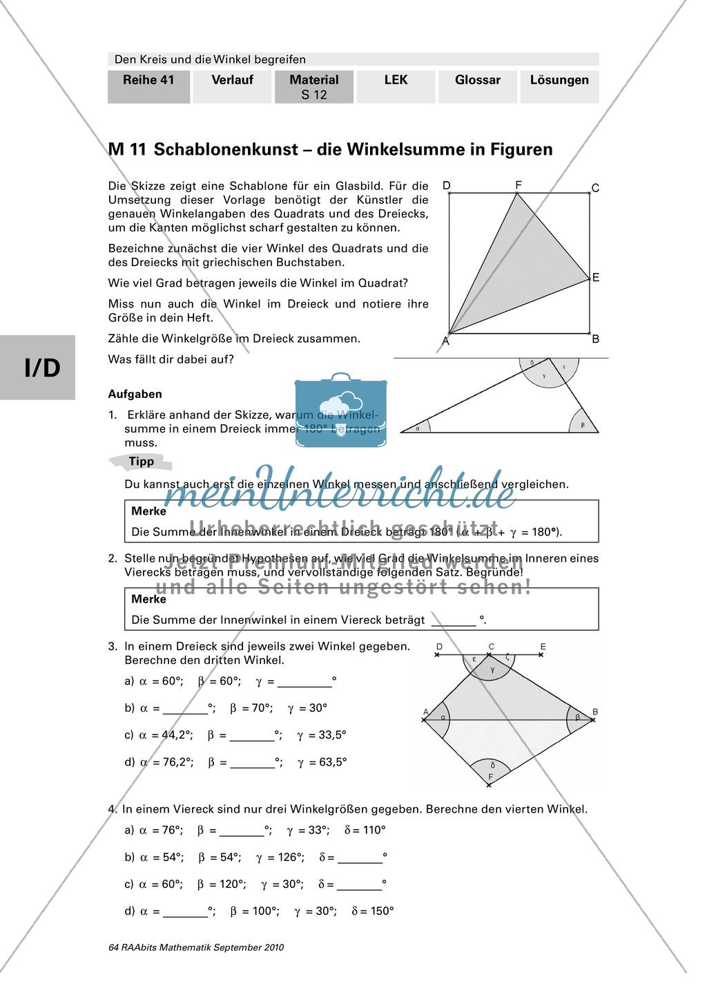 Erfreut Arbeitsblatt Dreieck Summe Und Außenwinkelsatz Antworten ...