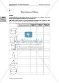 Mathematik, Raum & Form, Geometrie, Körperberechnung, Körpereigenschaften, arbeitsblätter