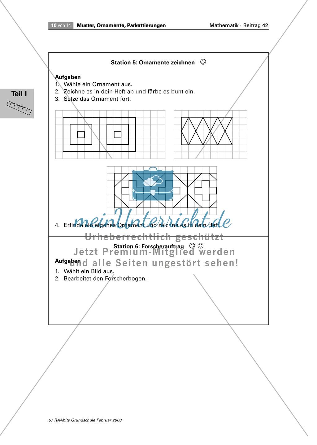 Stationenlernen zum Thema Muster und Ornamente - meinUnterricht