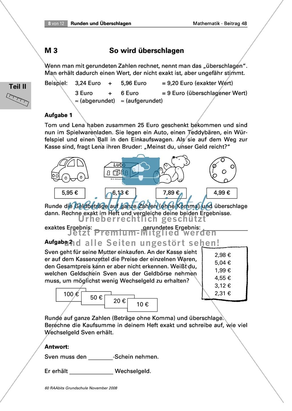 Arithmetik: Unterrichtseinheit zum sinnvollen Einsatz von Runden und ...
