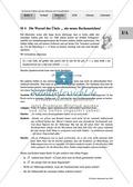 Unterrichtseinheit zum Einführen der irrationalen Zahlen und der Wurzeln. Mit Infomaterial, Aufgaben mit Lösungen und Erläuterungen und abschließendem Test/Lernerfolgskontrolle. Preview 4