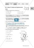 Unterrichtseinheit zum Einführen der irrationalen Zahlen und der Wurzeln. Mit Infomaterial, Aufgaben mit Lösungen und Erläuterungen und abschließendem Test/Lernerfolgskontrolle. Preview 8