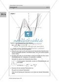 Analysis: Gruppenarbeit zum Thema Flächeninhalte bei Funktionenscharen. Mit Beispielen, Aufgaben und Lösungen. Preview 6