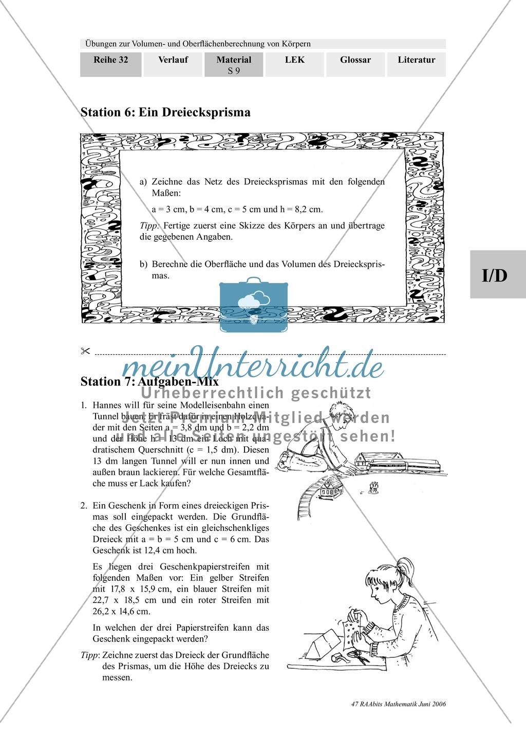 Fancy Volumen Von Rechteckigen Prismen Arbeitsblatt Textaufgaben ...