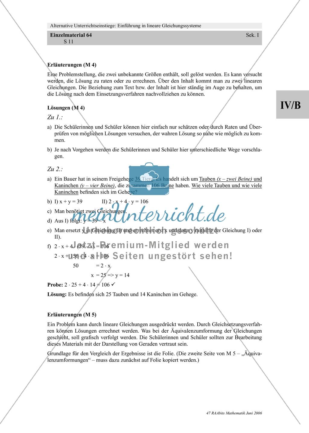 Lineare Gleichungssysteme: Sachaufgaben zum Thema Taschengeld, Handyvertrag Preview 6