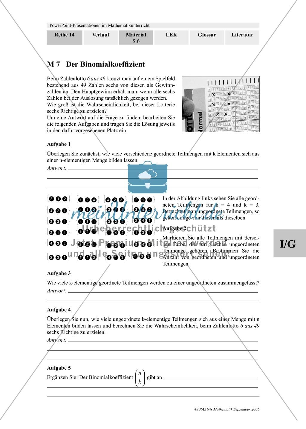 Power-Point-Präsentation und Aufgaben mit Lösungen zum Thema ...