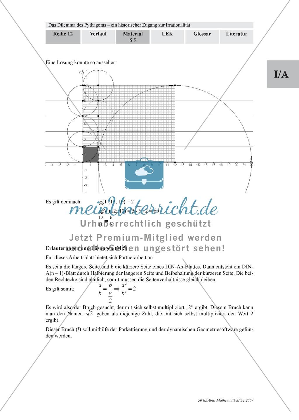 Geometrie: Parkettierung von Papier per Hand und als Modell am ...