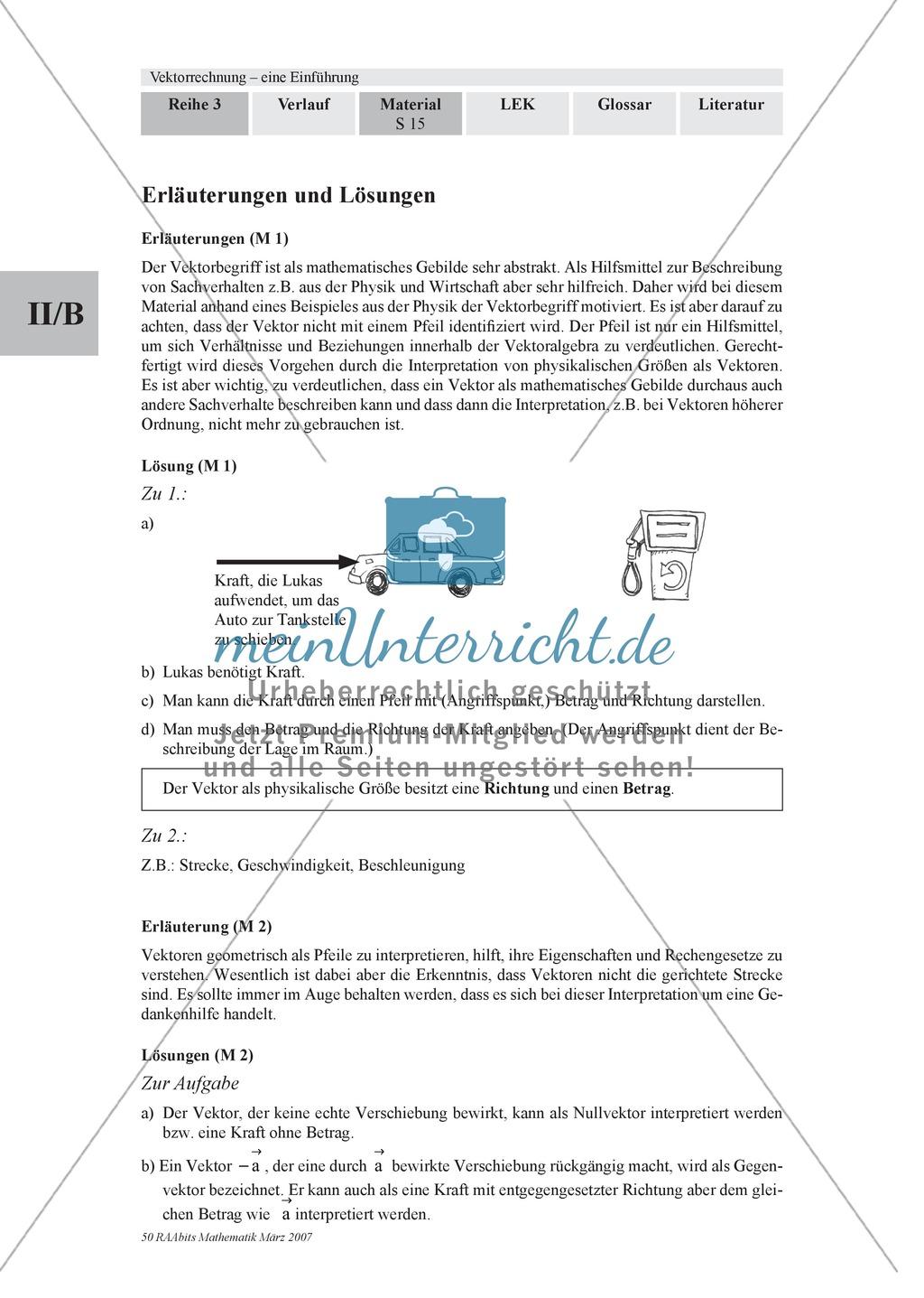 Analytische Geometrie: Unterrichtseinheit zur Einführung von ...