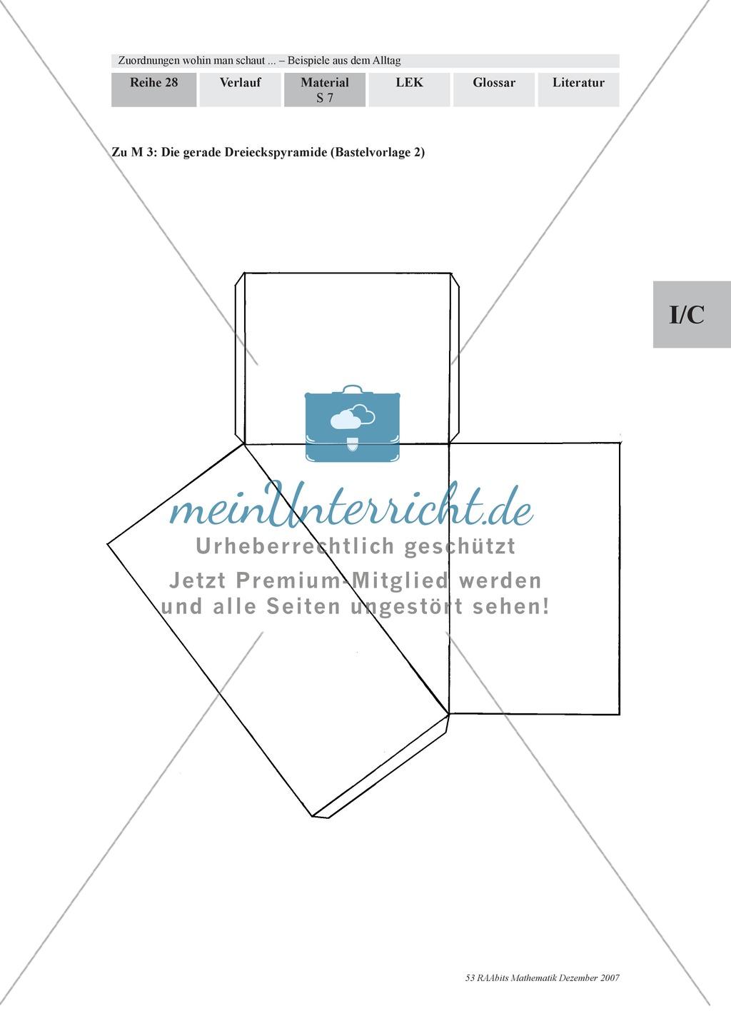 Zuordnungen: Aufgaben zum Verhältnis Füllhöhe/Füllvolumen bei Körpern mit nicht konstanter Querschnittsfläche Preview 4