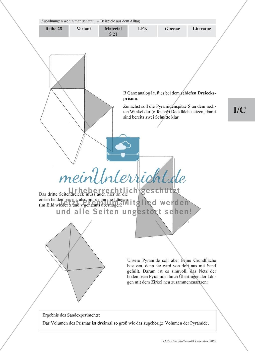 Zuordnungen: Aufgaben zum Verhältnis Füllhöhe/Füllvolumen bei Körpern mit nicht konstanter Querschnittsfläche Preview 6