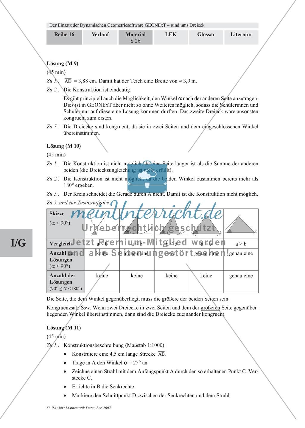 GEONExT-Geometriesoftware: Einteilung von Dreiecken nach Winkeln und Seiten Preview 6