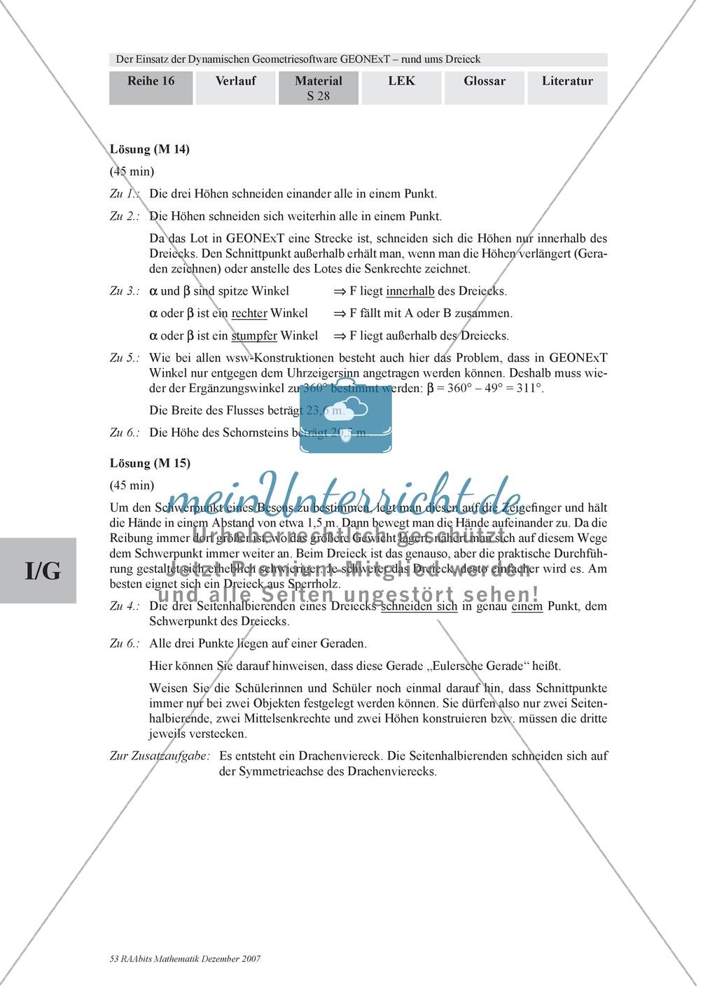 GEONExT-Geometriesoftware: Einteilung von Dreiecken nach Winkeln und Seiten Preview 8