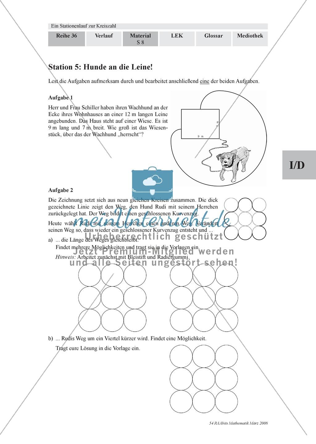 Stationenlernen zur Kreiszahl Pi - meinUnterricht