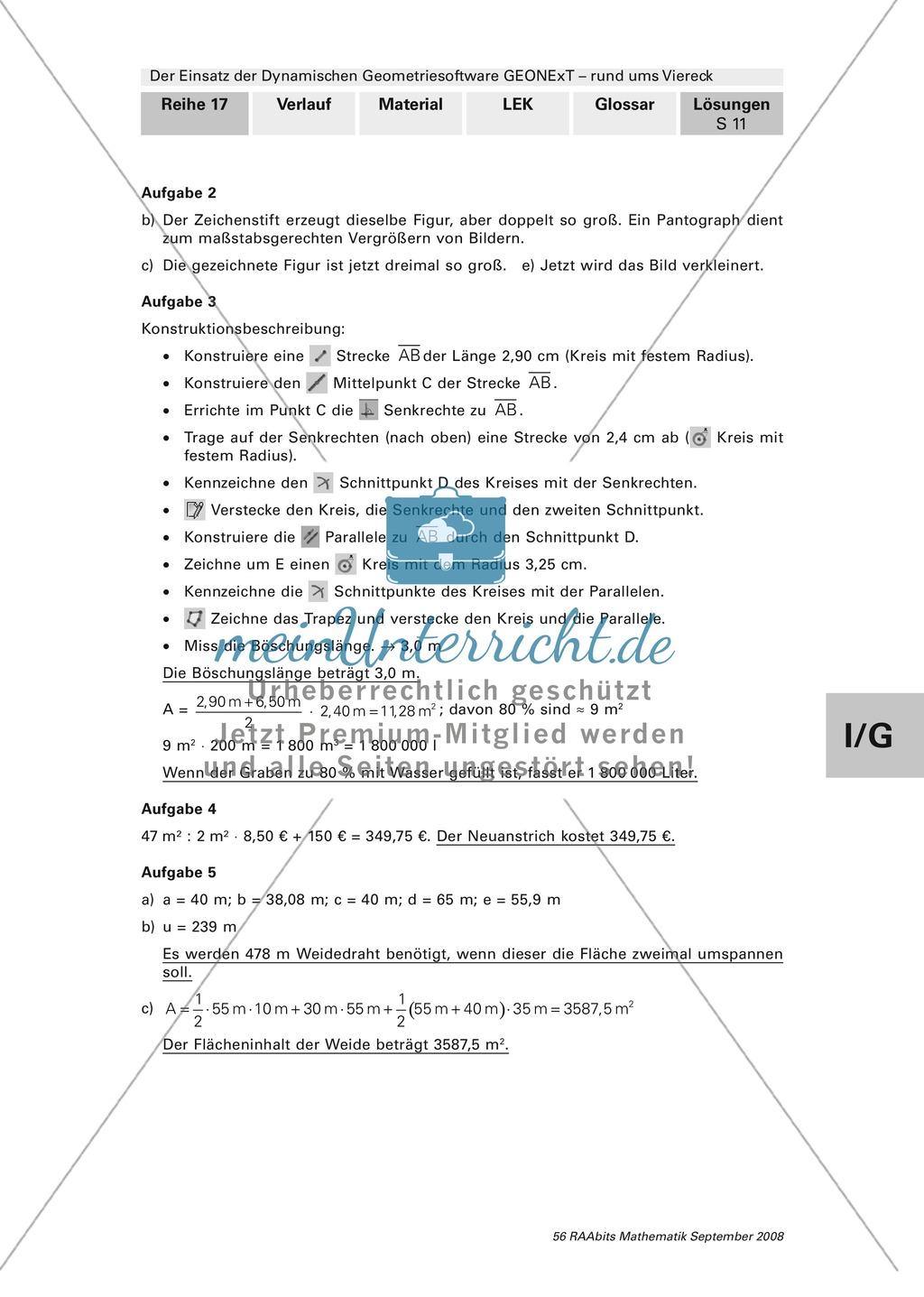 GEONExT: Verschiedene Übungen und Aufgaben zu Vierecken Preview 10