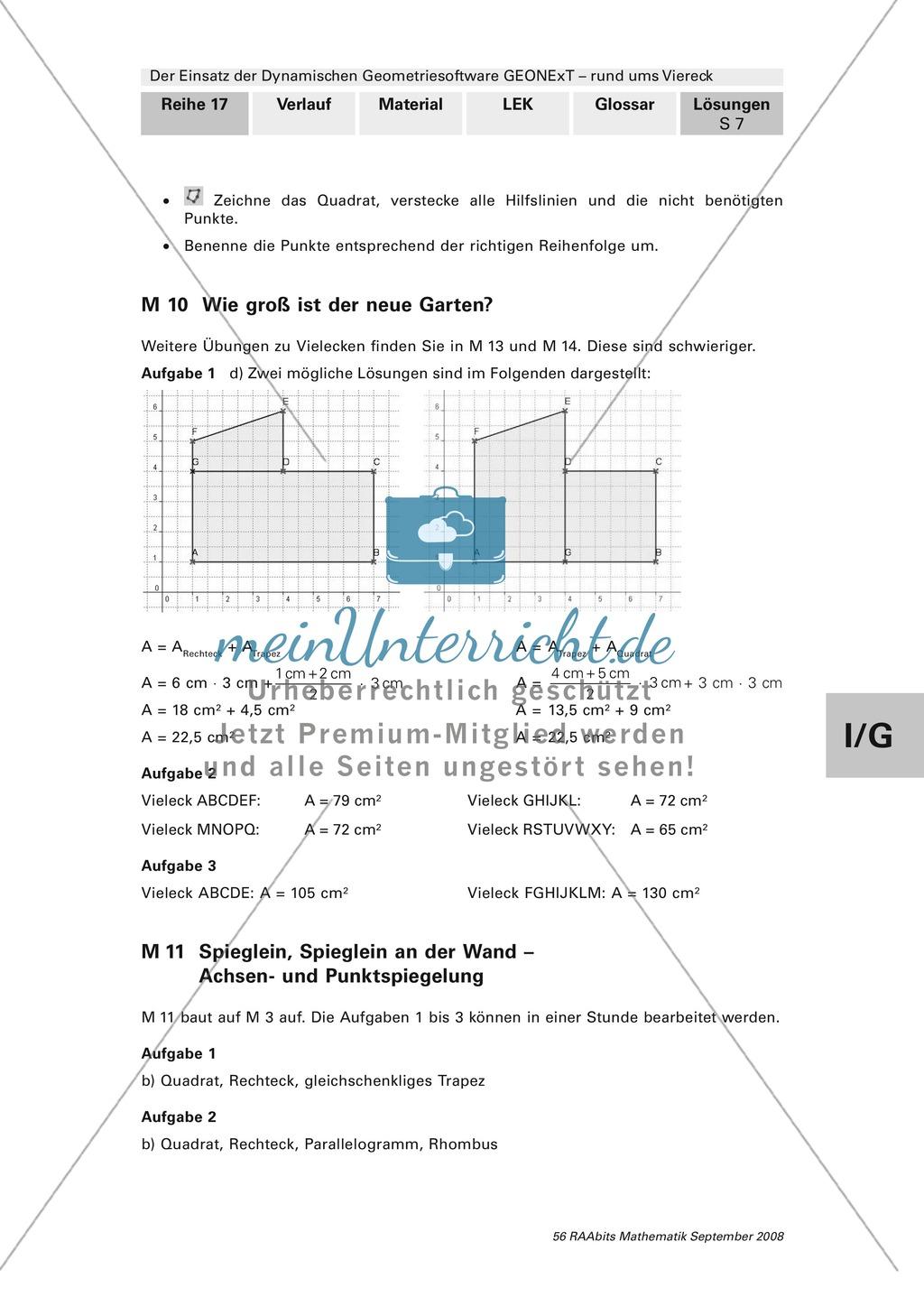 GEONExT: Verschiedene Übungen und Aufgaben zu Vierecken Preview 6
