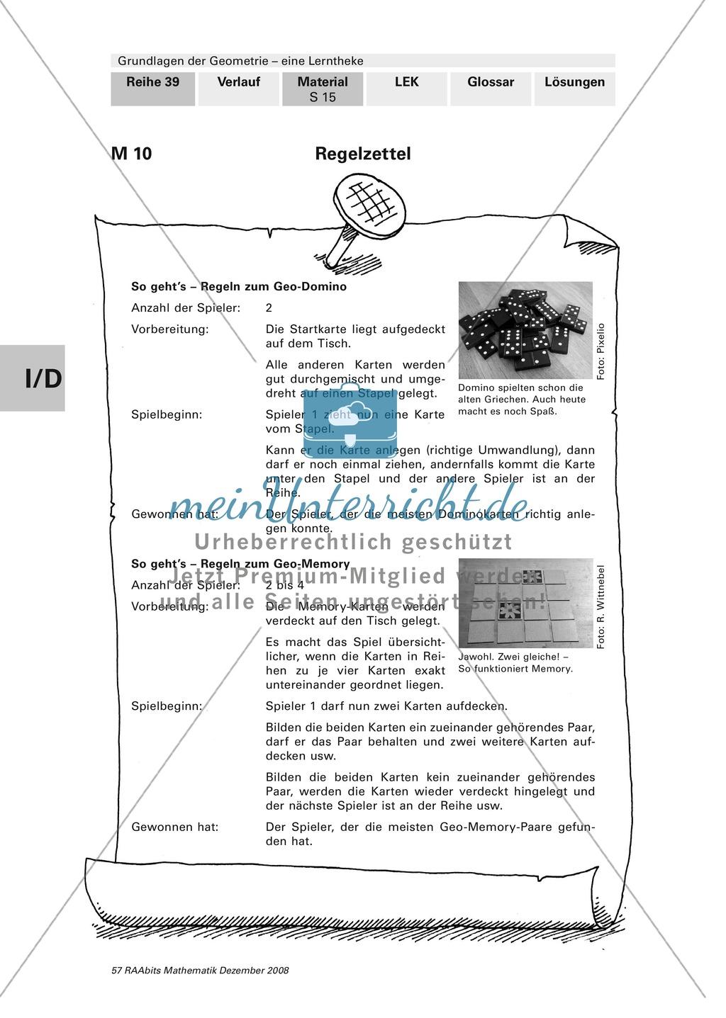 Geometrie: Lerntheke mit Selbsttest und differenzierenden Aufgaben mit Lösungen zum Thema Flächen, Flächeneinheiten und Umfang Preview 15