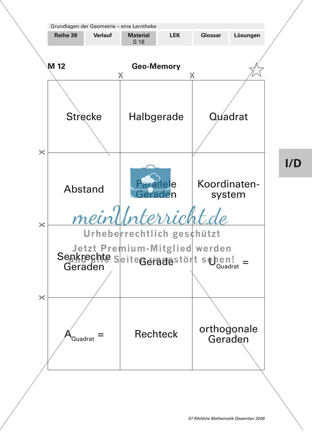 Geometrie: Lerntheke mit Selbsttest und differenzierenden Aufgaben mit Lösungen zum Thema Flächen, Flächeneinheiten und Umfang Preview 18