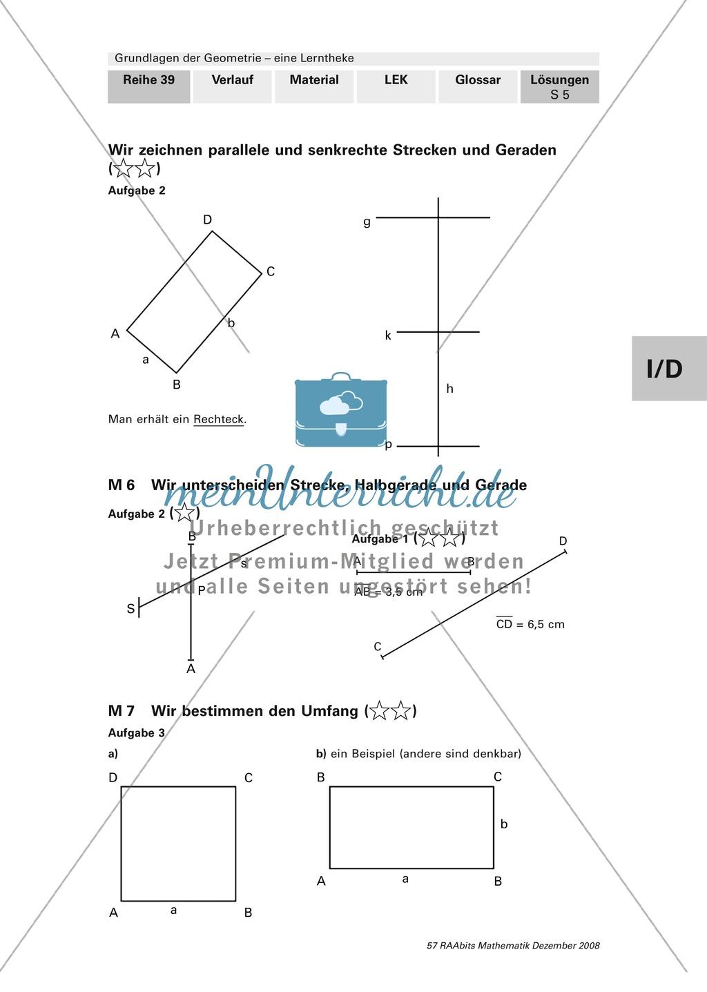 Geometrie: Lerntheke mit Selbsttest und differenzierenden Aufgaben mit Lösungen zum Thema Flächen, Flächeneinheiten und Umfang Preview 24