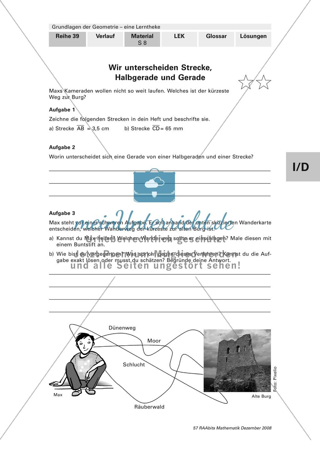 Geometrie: Lerntheke mit Selbsttest und differenzierenden Aufgaben mit Lösungen zum Thema Flächen, Flächeneinheiten und Umfang Preview 8