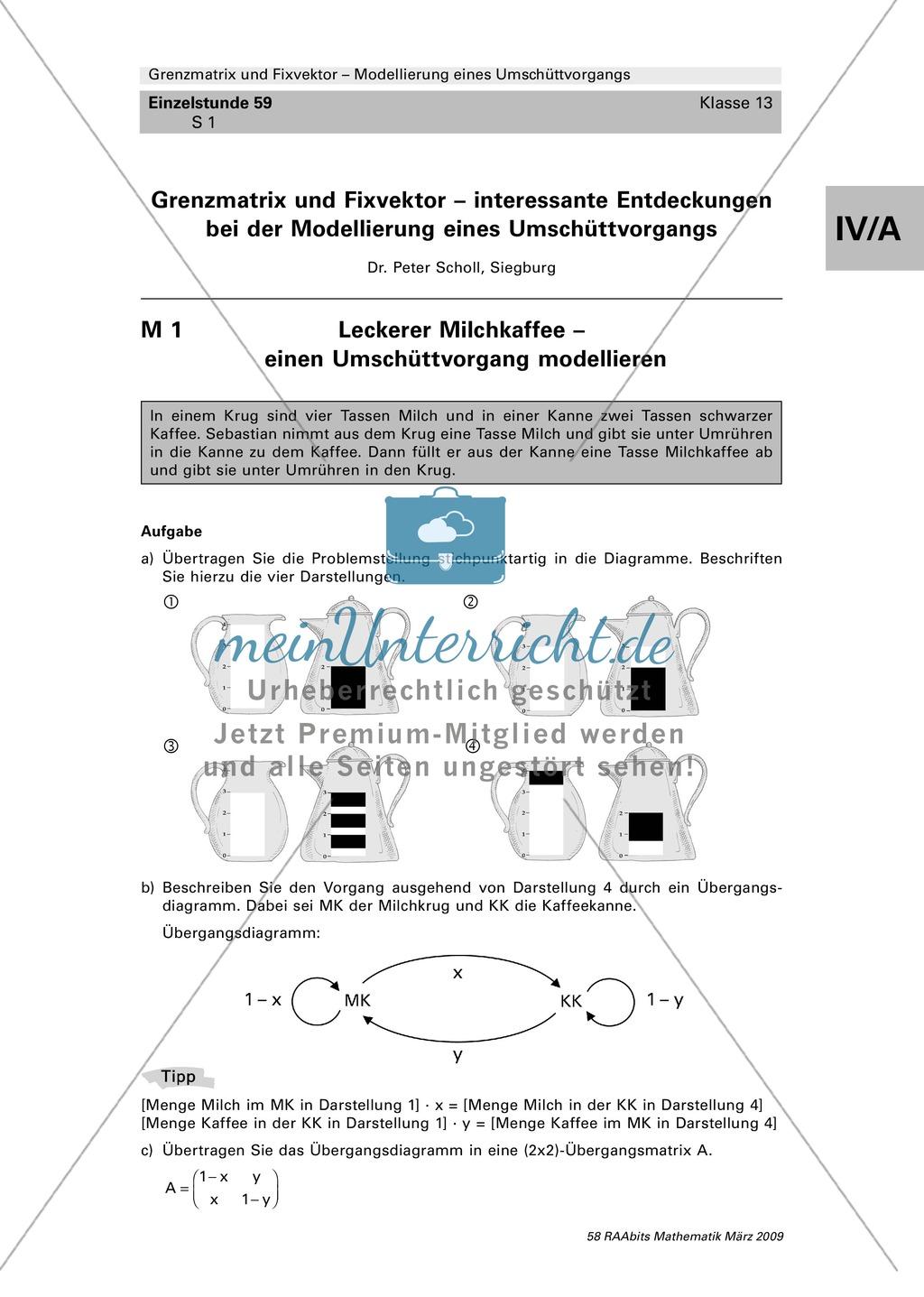 Grenzmatrix und Fixvektor erkennen und verstehen am Beispiel einer ...