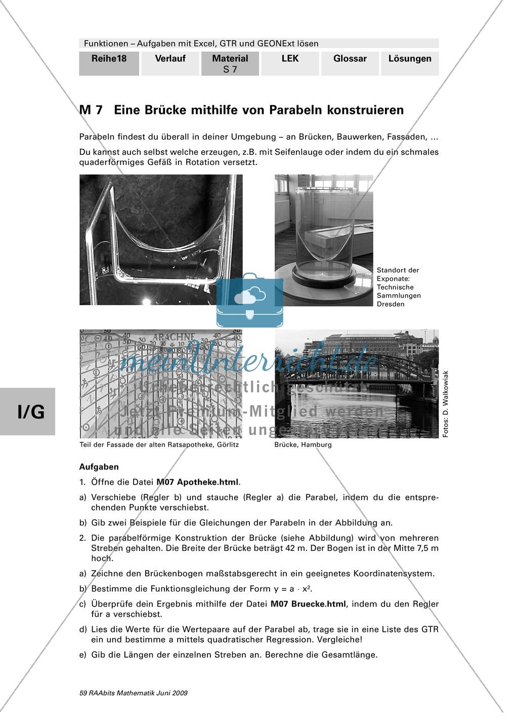 Analysis: Parabeln, Exponentialfunktion und Extremwertproblem ...