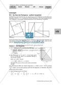 Geometrie: Die grafische Herleitung des Satz des Pythagoras und Anwendungsaufgaben mit Lösungen Preview 6