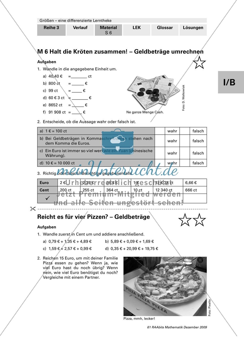 Differenzierte Lerntheke zum Thema Größen: Zeiteinheiten ...