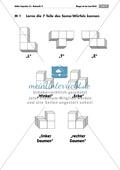 Geometrie: Unterrichtseinheit zur Förderung des räumlichen Vorstellungsvermögens mit dem Soma-Würfel. Mit Aufgabenkarten und Brettspiel. Preview 1