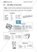 Mathematik, Größen & Messen, Raum & Form, Größeneinheiten, Längen, Fläche, Gewichte, Volumen