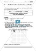Algebra: Infomaterial und Übungen zu Quadratzahlen. Mit Lösungen. Preview 3